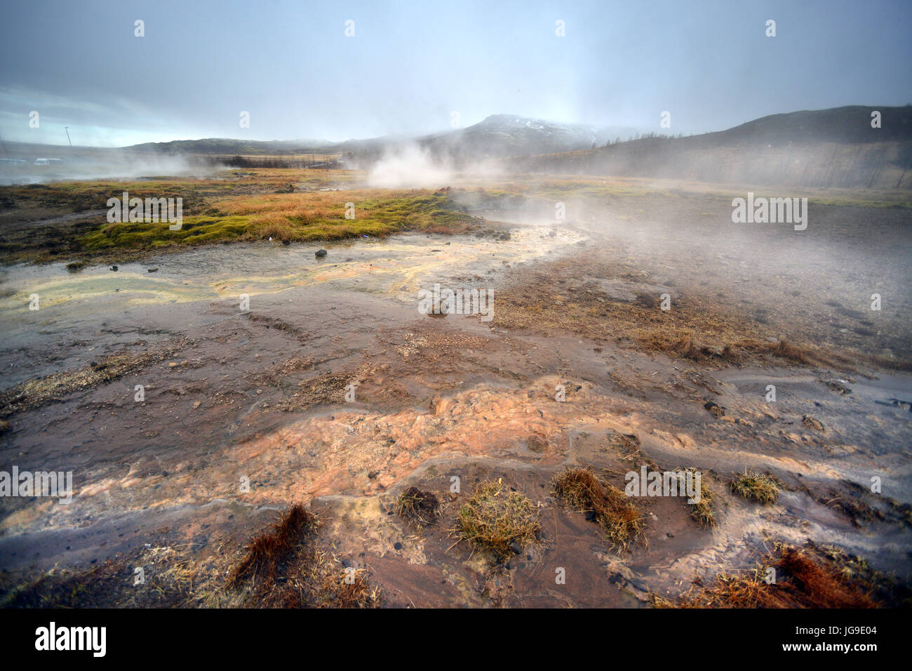 Hot springs, Iceland - Stock Image