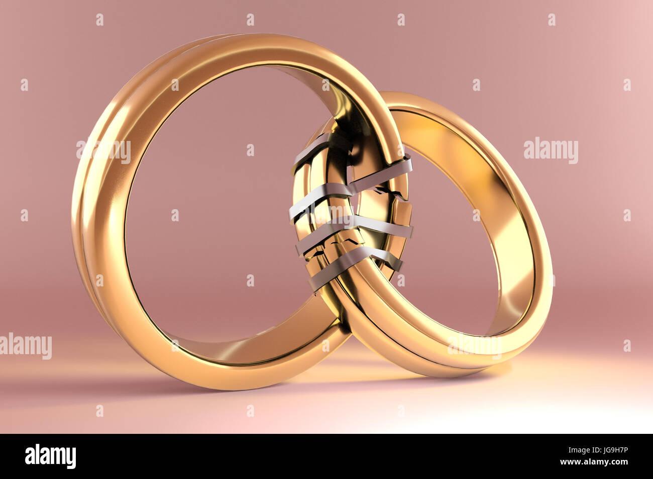 Broken Wedding Rings Stock Photos & Broken Wedding Rings Stock ...