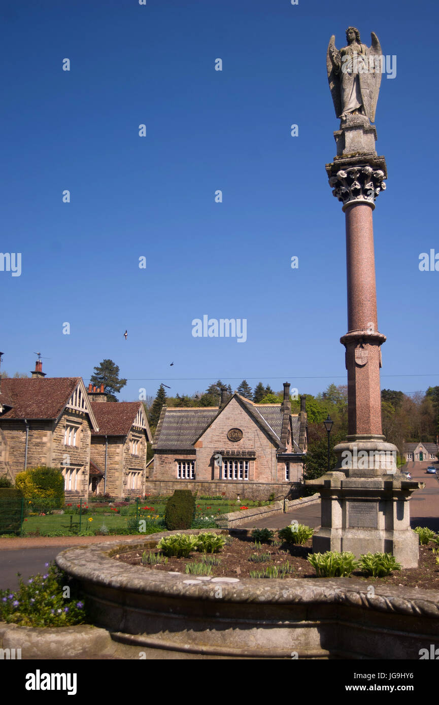 The Waterford Fountain, Ford Village, Northumberland Stock Photo