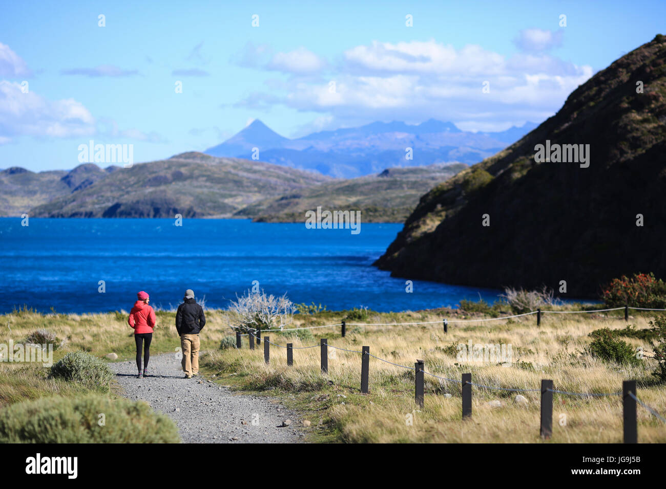 Torres del Paine, Chile . Wonderful patagonic national park - Stock Image