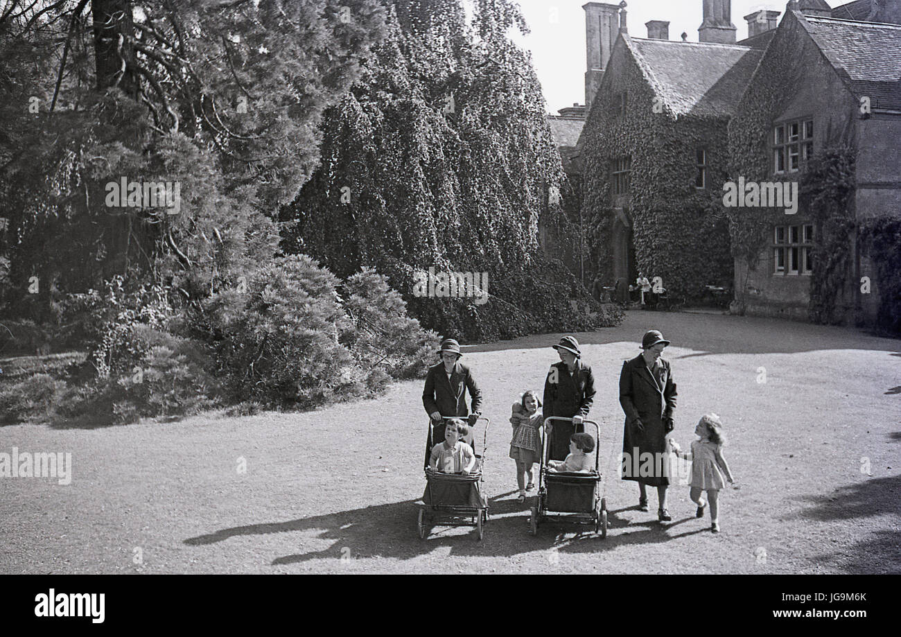 1940s, England, wartime, picture shows Stanstead Hall, home of Lady Butler (Sydney Courtauld) wife of Rab Butler, - Stock Image