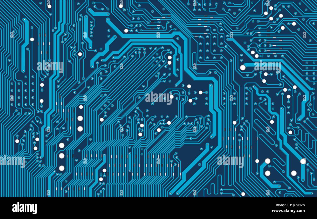 Vector Blue Electronic Circuit Board Background Stock Vector Image Art Alamy
