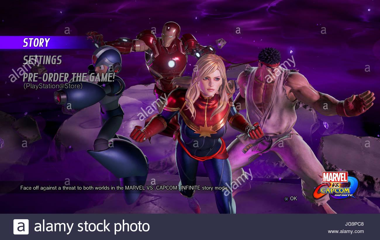 Marvel Vs Capcom Infinite Screenshot - Stock Image
