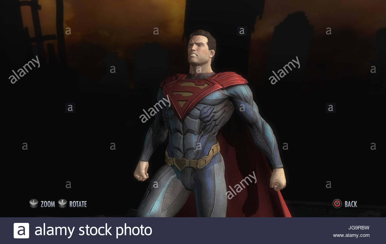 A screenshot from Injustice Gods Among Us Ultimate edition on PS4 - Stock Image