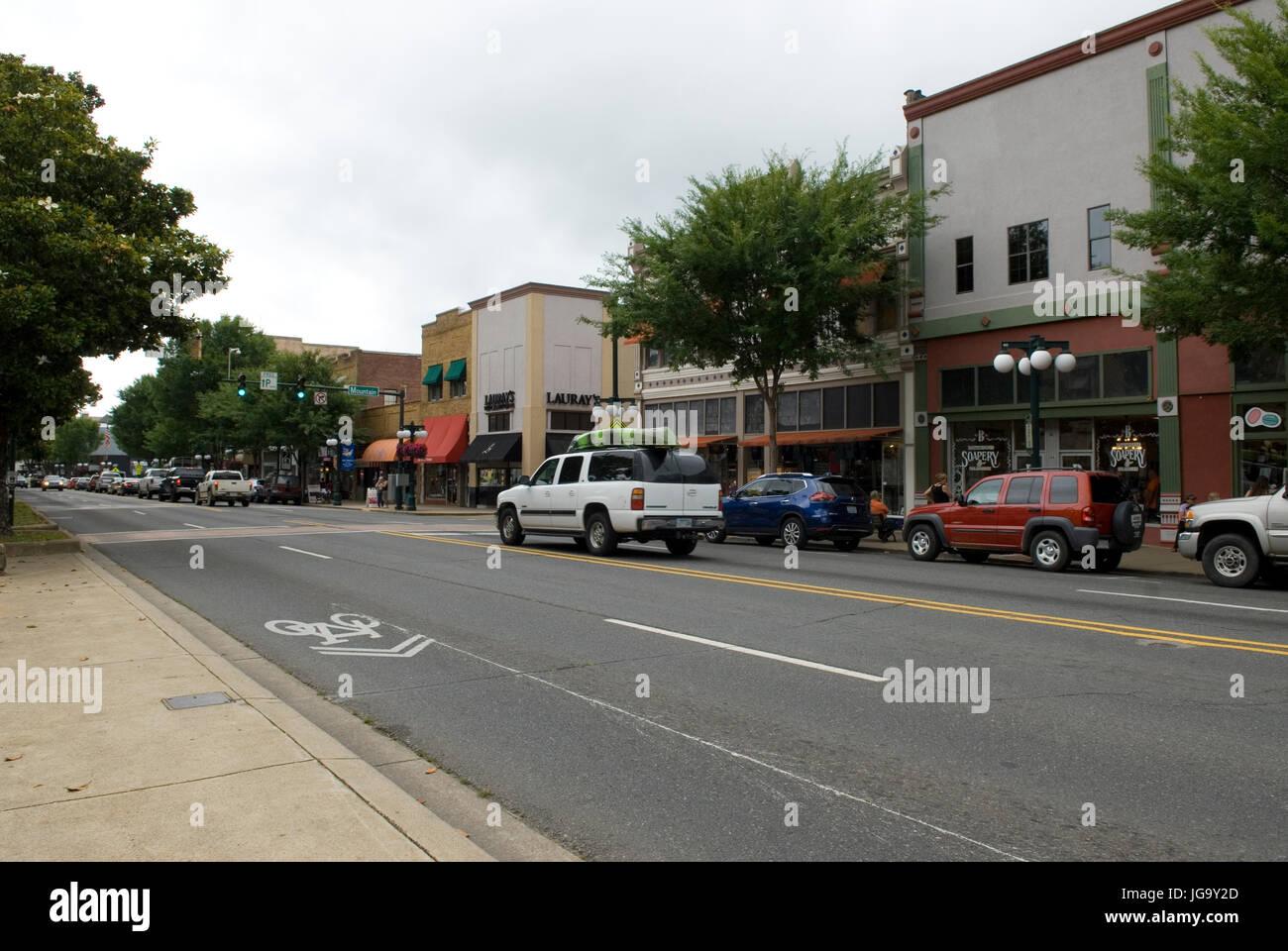 Main Street Hot Springs Arkansas USA. Stock Photo
