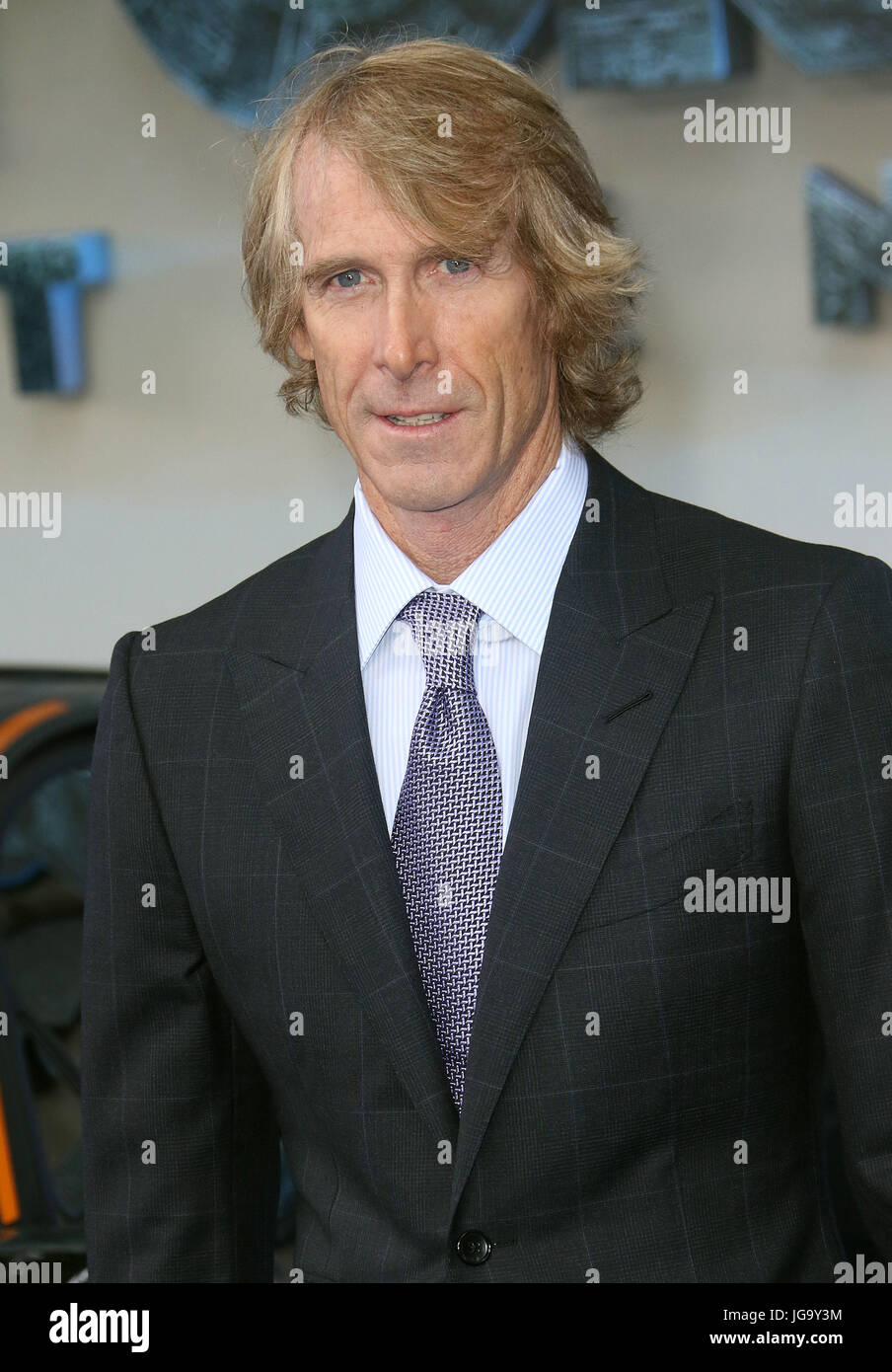 Jun 18, 2017 - Michael Bay attending Transformers: The Last Knight Global Premiere, Leicester Square in London, - Stock Image