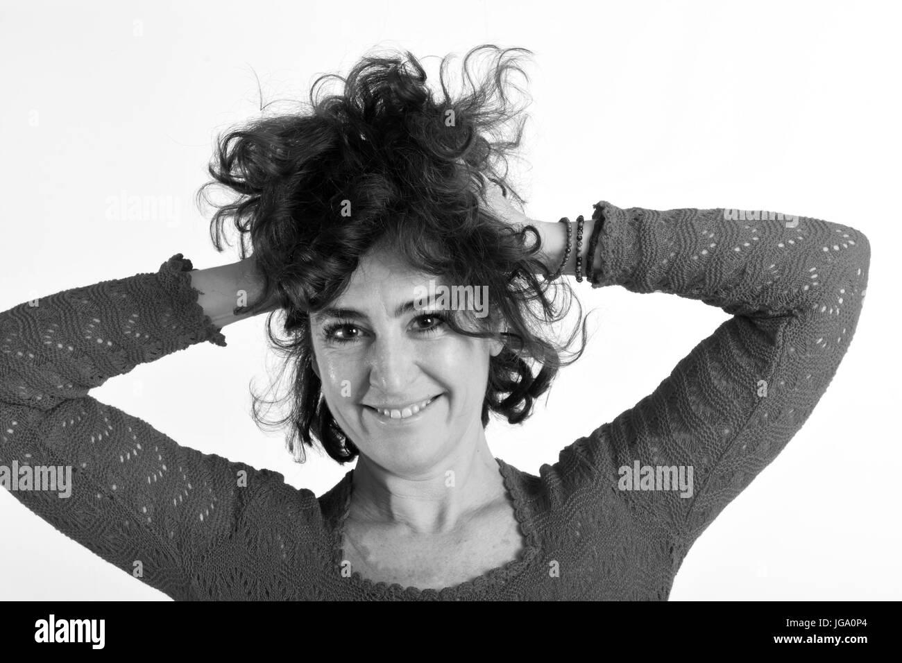Woman who disheveled, Stock Photo