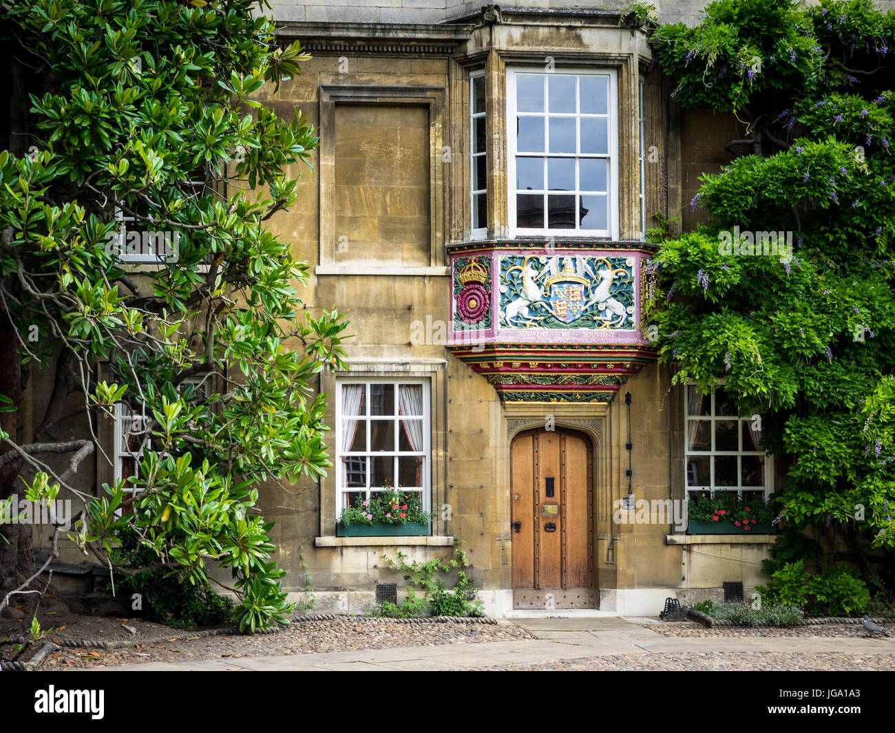 Christ's College Cambridge. The Master's Lodge at Christ's College, part of the University of Cambridge - Stock Image