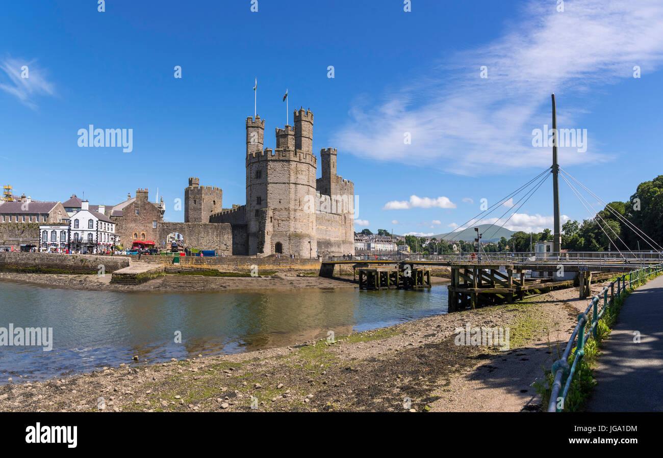 Caernarfon. Castle - Stock Image