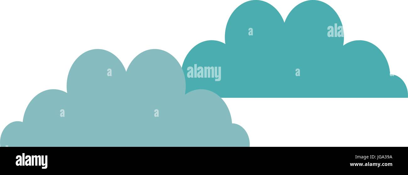 cloudscape sky clouds fluffy cumulus atmosphere heaven vector - Stock Image