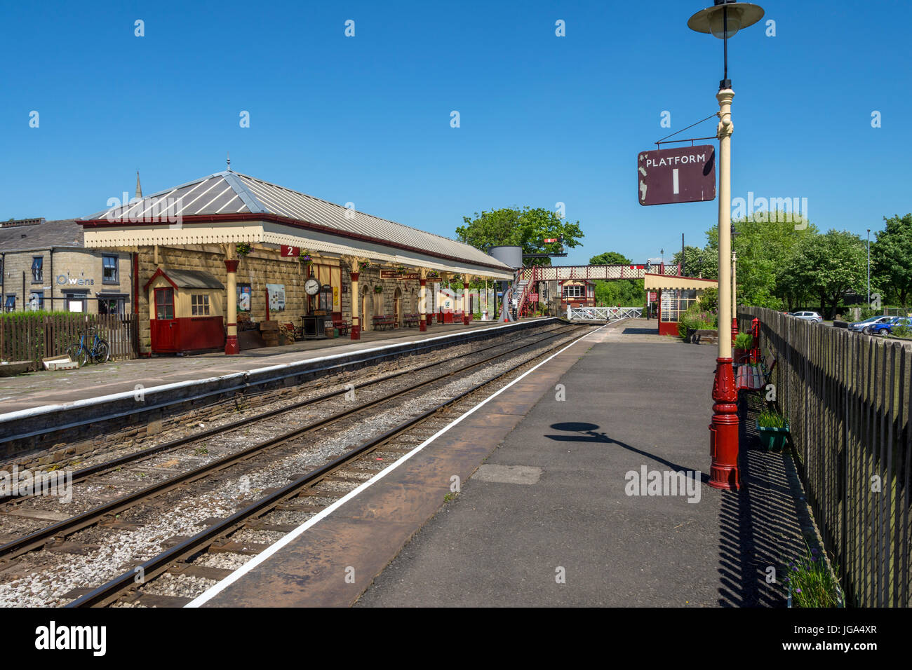 Ramsbottom station, on the East Lancashire Railway, near Bury, Greater Manchester, UK. Stock Photo