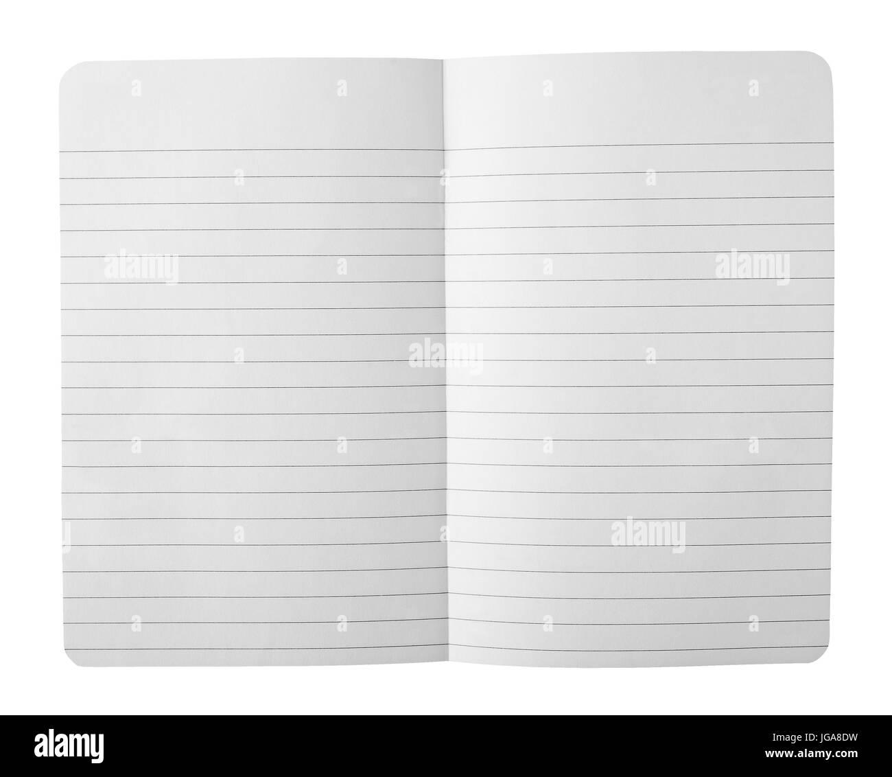 Paper sheet on white background - Stock Image