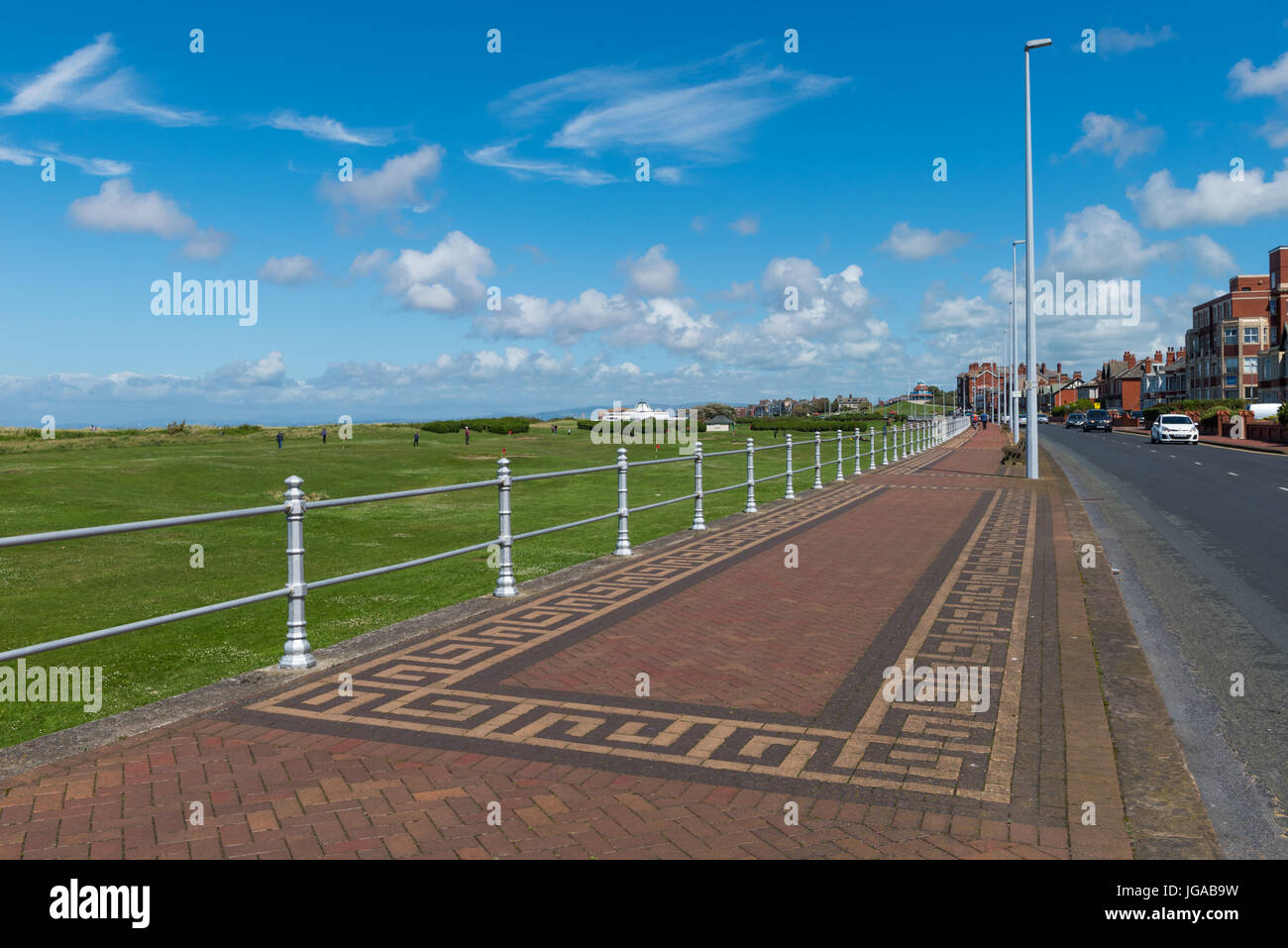The Esplanade at Fleetwood on the Fylde Coast of Lancashire - Stock Image