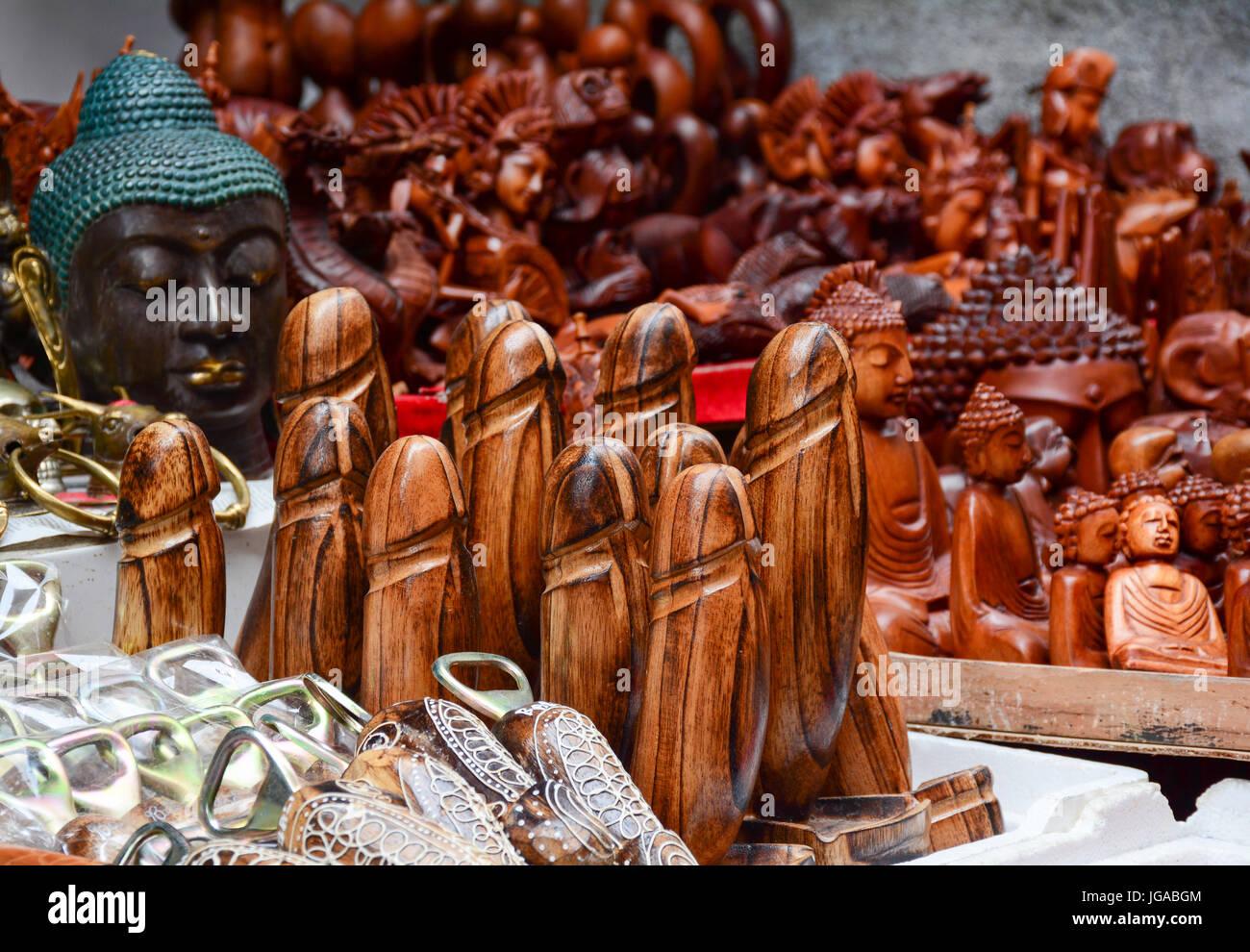 Souvenir shop in Bali, Indonesia. Bali is a popular tourist Stock Photo: 147746052  Alamy