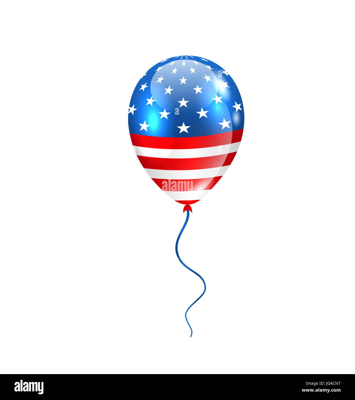 d7f25930257 Illustration Flying Balloon in American Flag Colors for Design for Natioan  Holidays - - Stock Image
