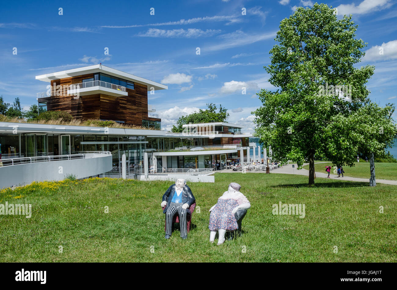 Buchheim Museum of Phantasy located north of Bernried in Höhenried Park on the banks of Lake Starnberg - A - Stock Image