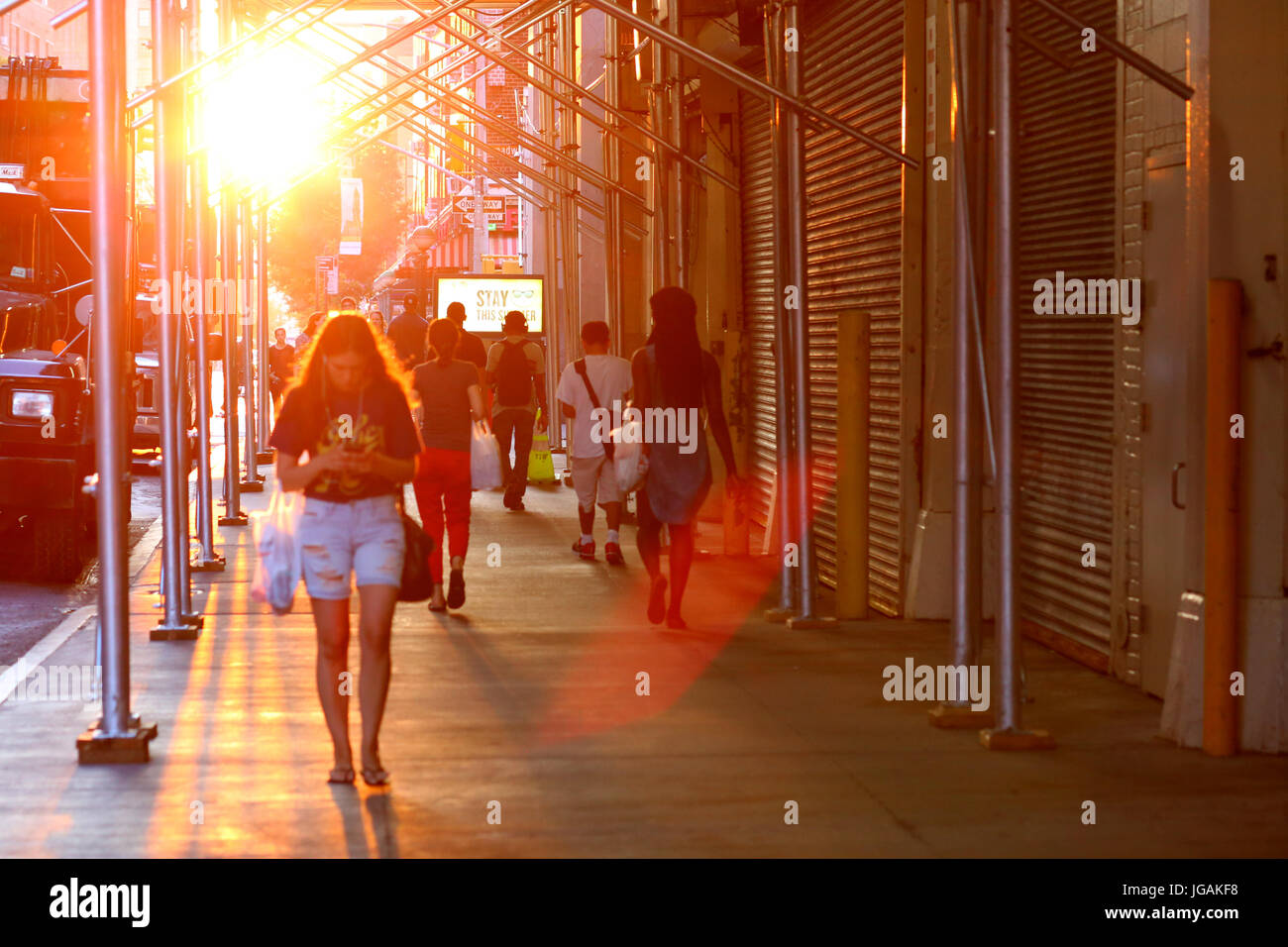 Summertime in the City - Stock Image