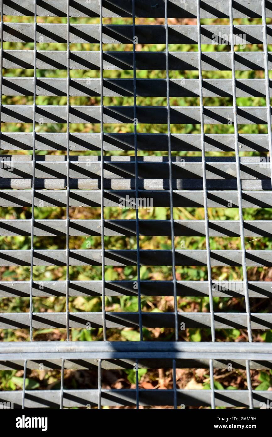 Metallgitter,metal grid - Stock Image