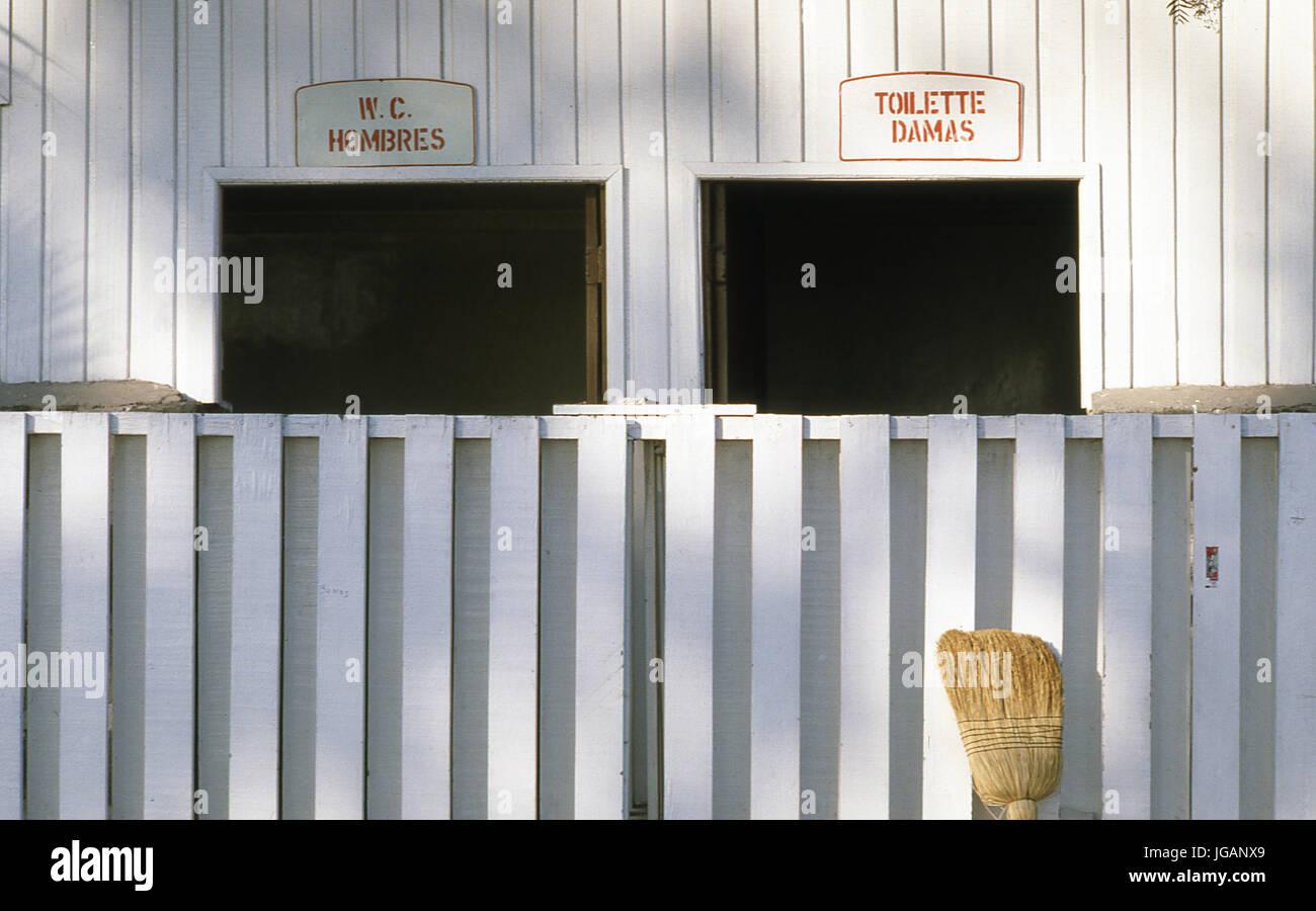 Facade bathroom - Stock Image