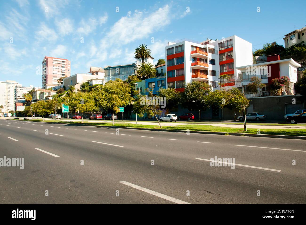 Viana Alvarez Boulevard - Vina Del Mar - Chile - Stock Image