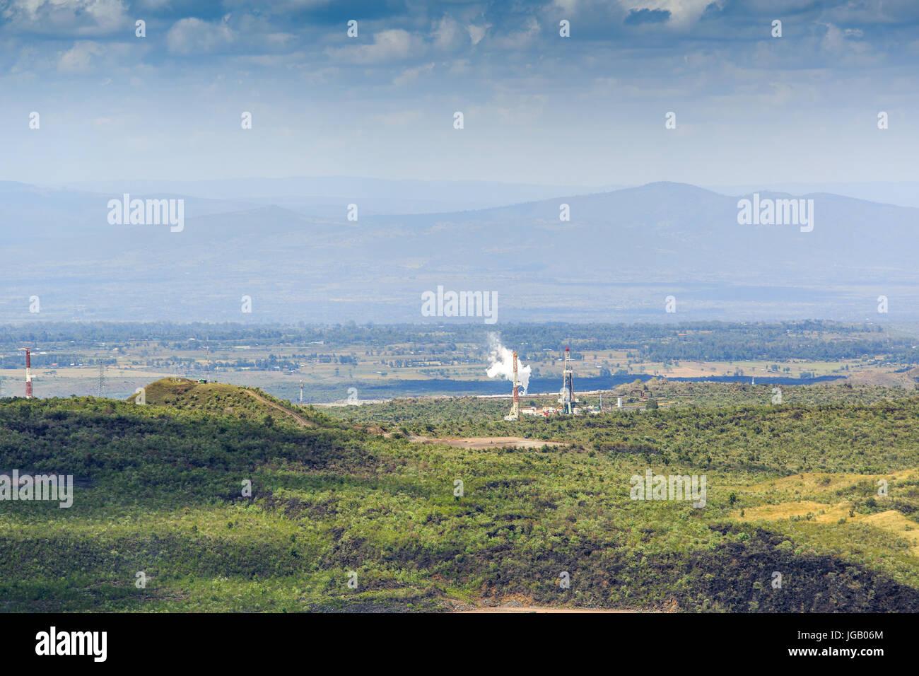 Geothermal Heat Pump Stock Photos Power Plant Block Diagram In Menengai Crater Nakuru Kenya East Africa Image