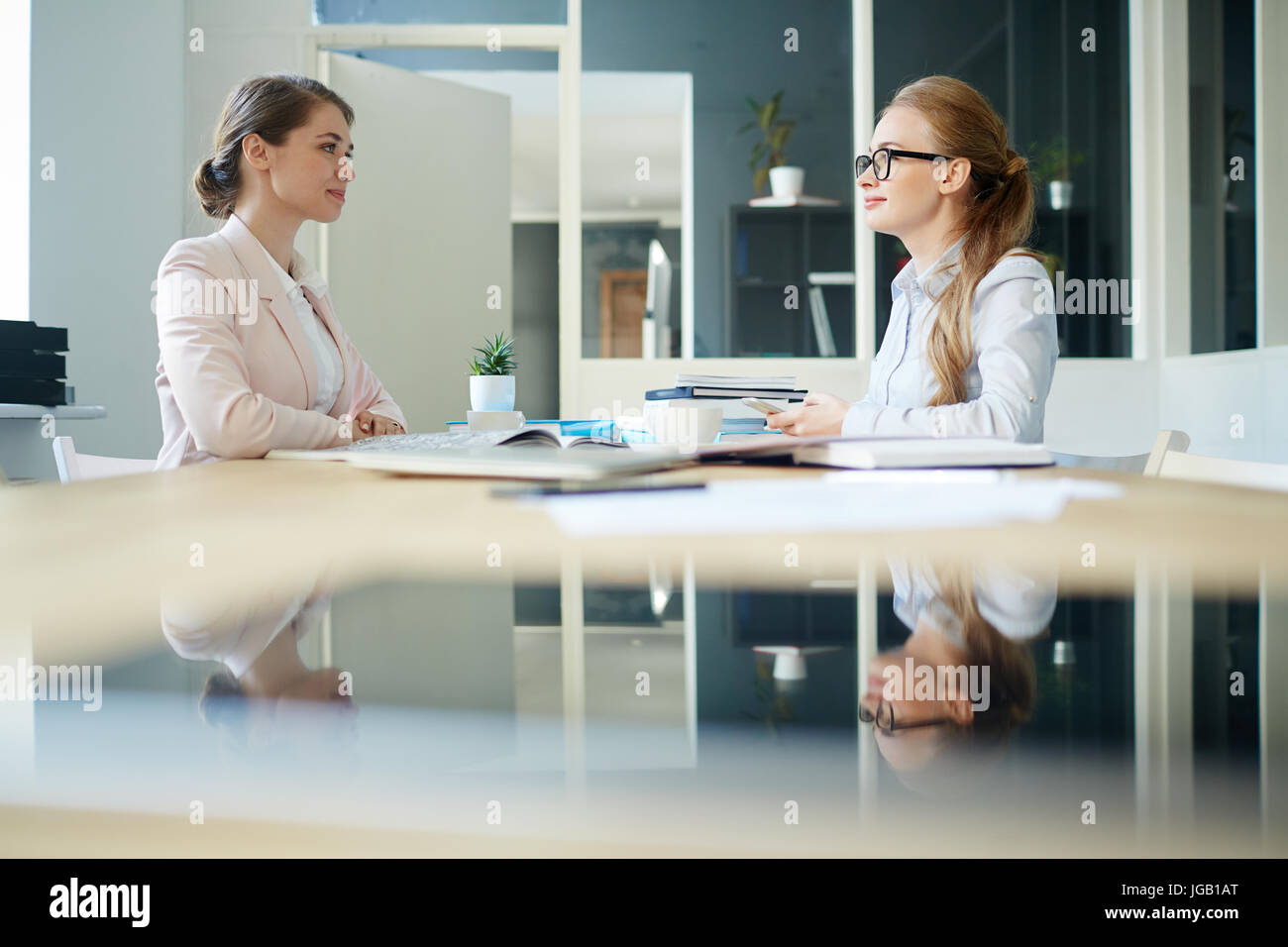 Interview in office - Stock Image