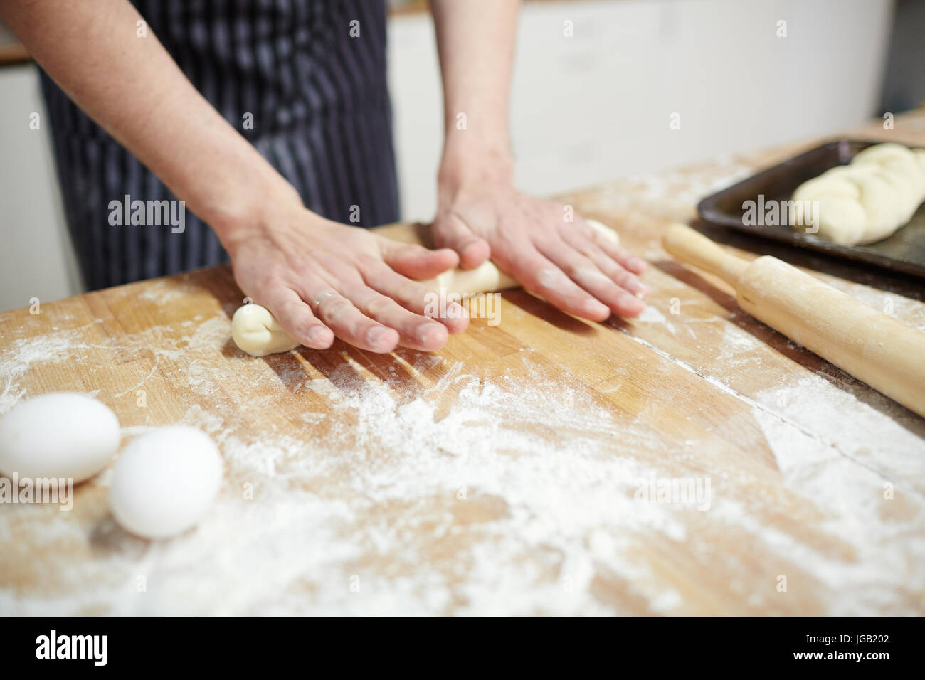 Making buns - Stock Image