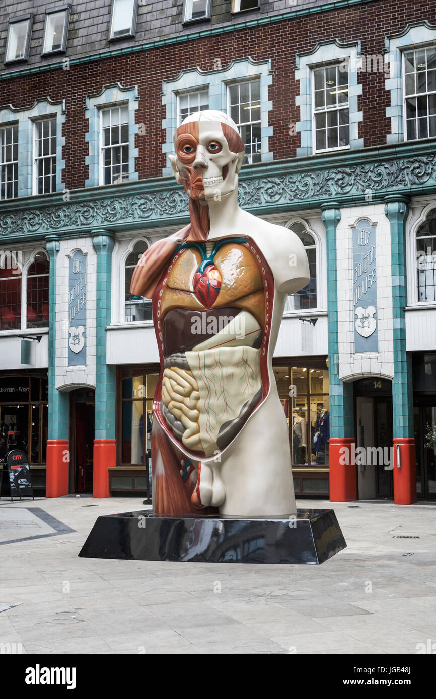 TEMPLE, a Damien Hurst sculpture, on display in the City of London as part ofSculpture in the City, public - Stock Image