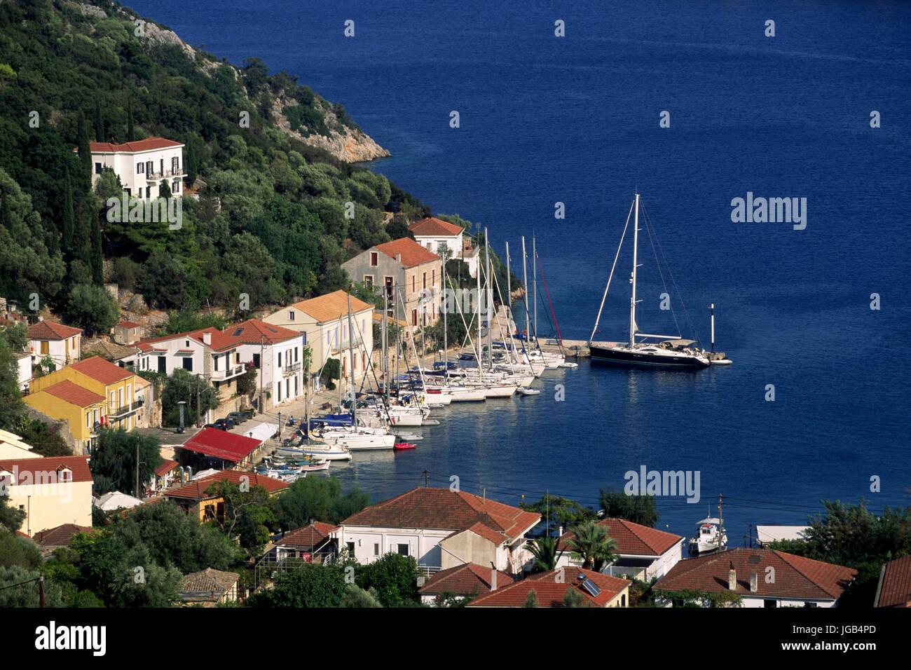 kioni, ithaca, ionian islands, greece - Stock Image