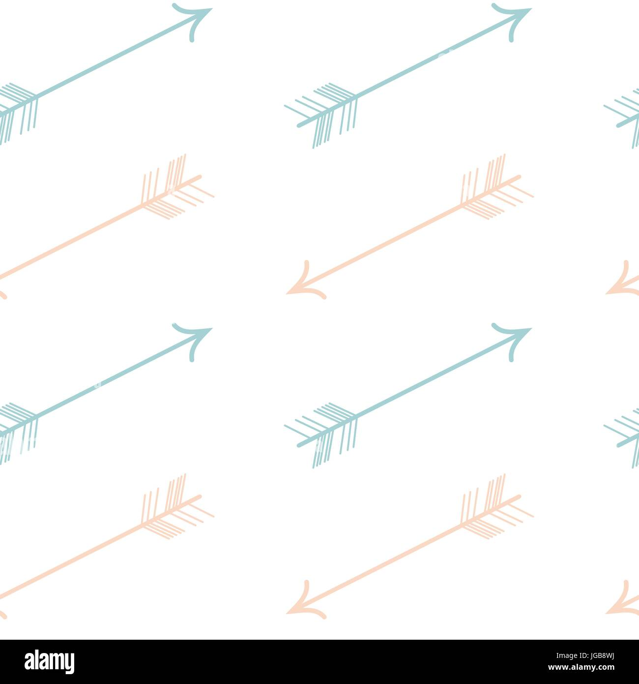 Cute Pastel Color Pink Blue Arrows Seamless Vector Pattern