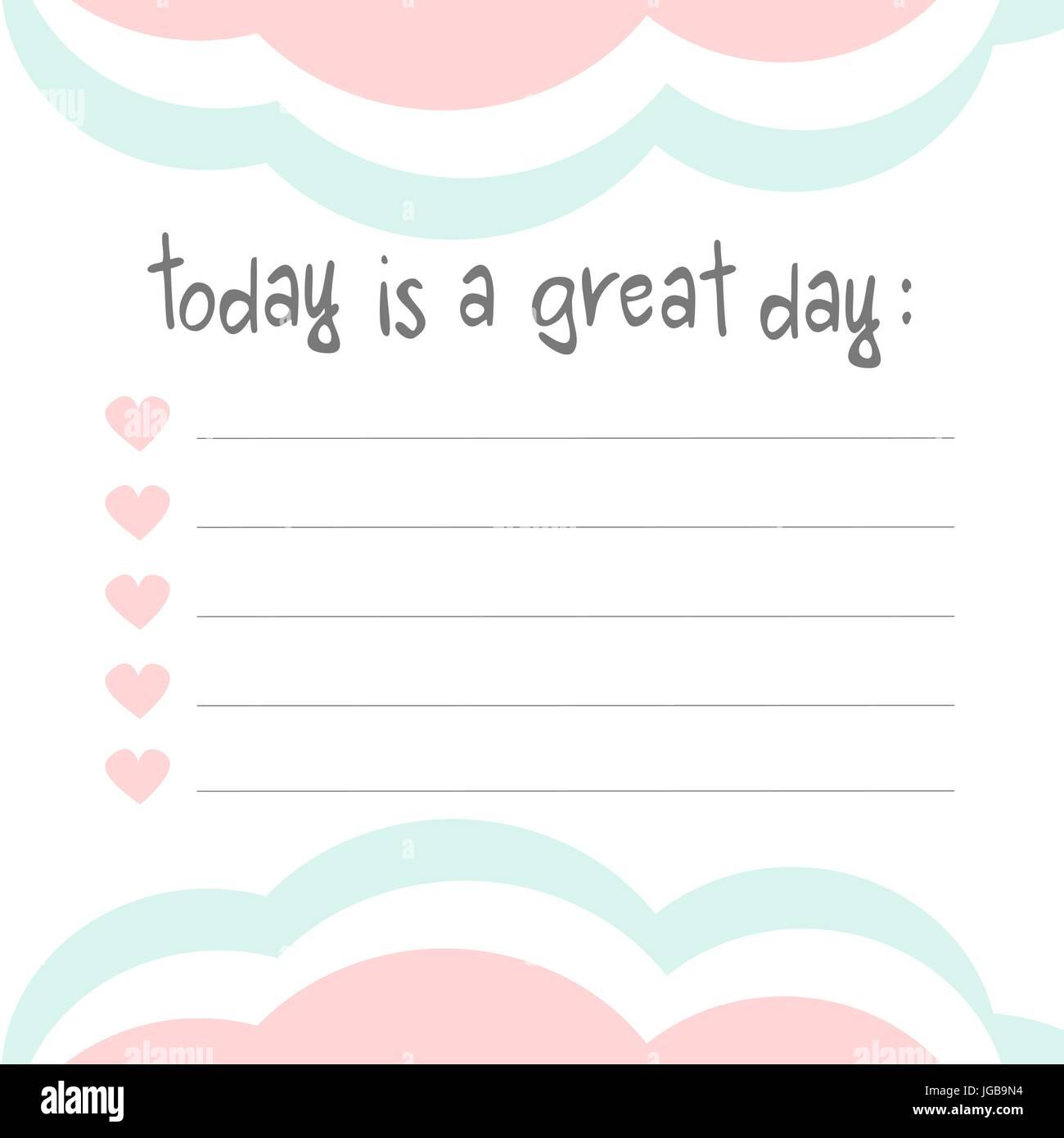 cute lovely pastel vector design notebook memo template stock vector