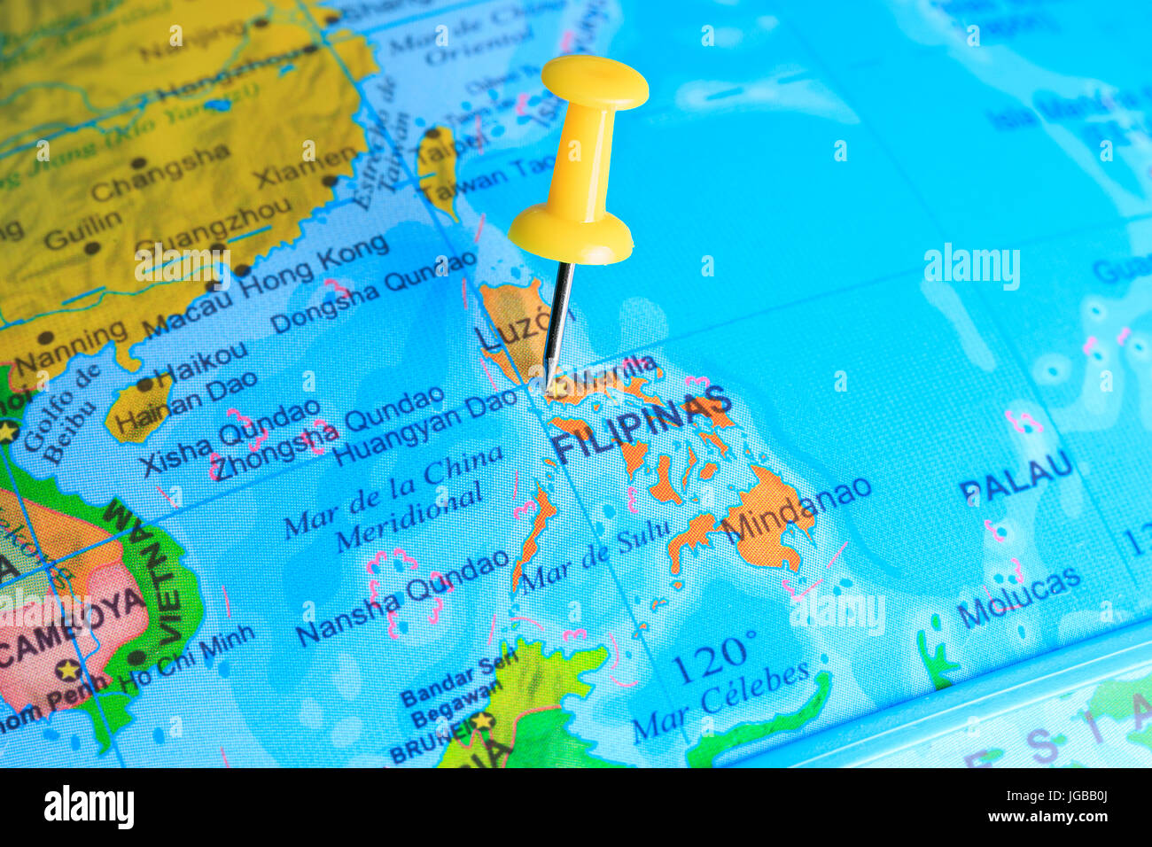Picture of: Philippines Pinned On A Map Of Asia Stock Photo Alamy