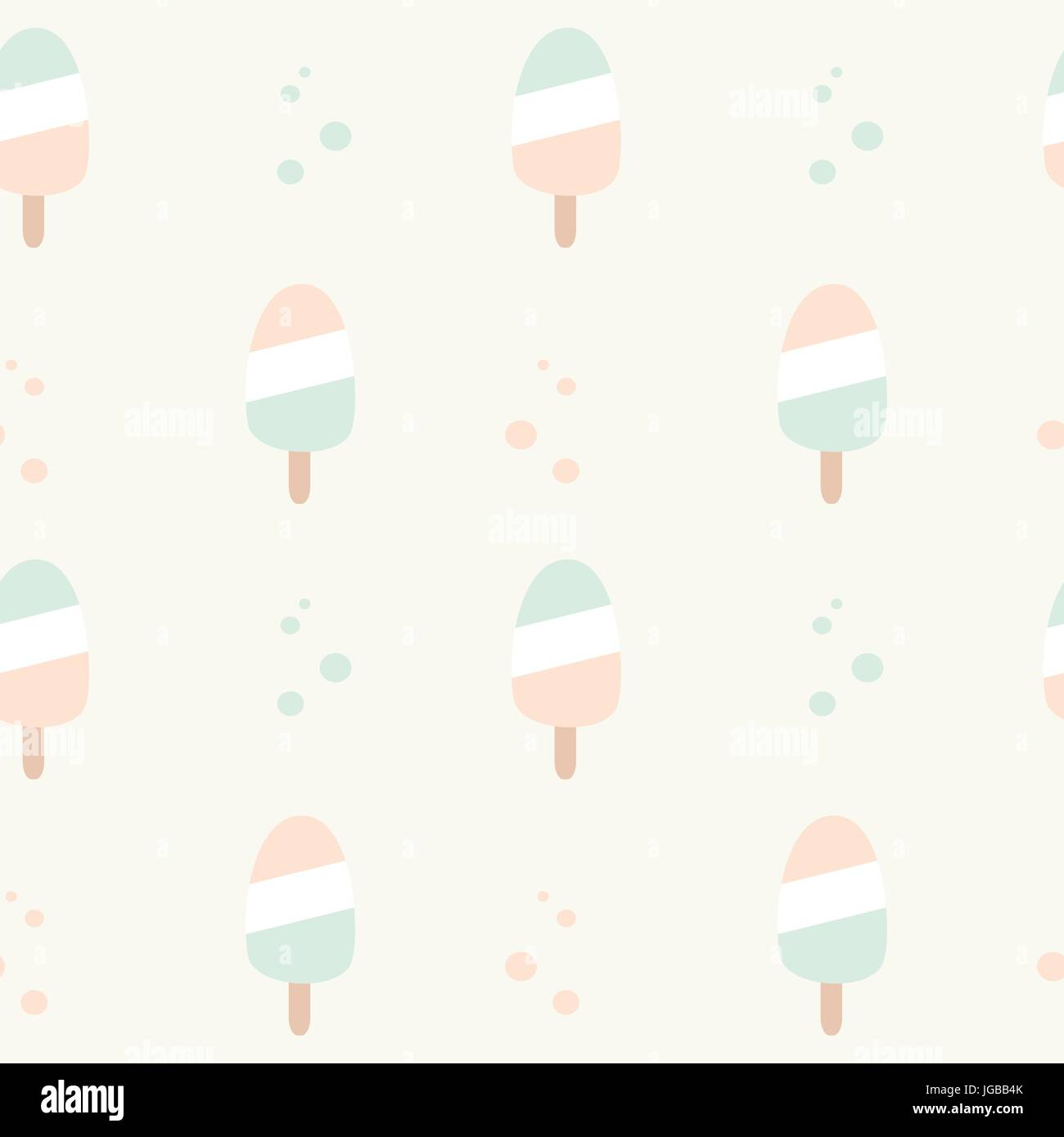 Cute Pastel Colors Ice Cream Seamless Vector Pattern Background Stock Vector Image Art Alamy
