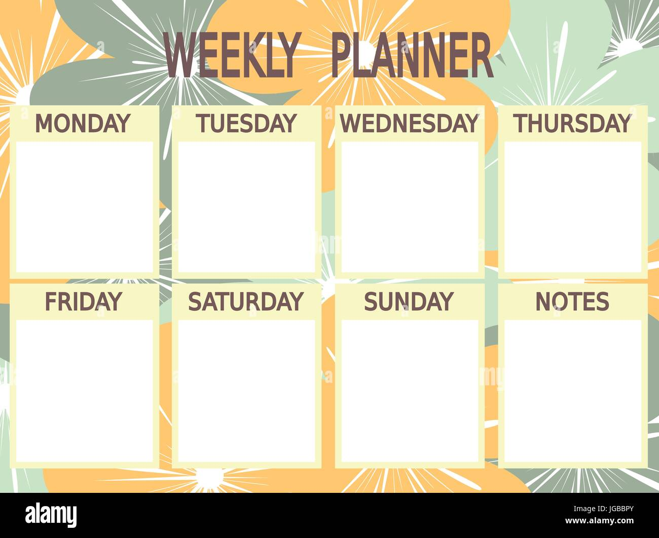 photograph about Cute Weekly Planner Printable identify adorable blue yellow vector printable weekly planner with