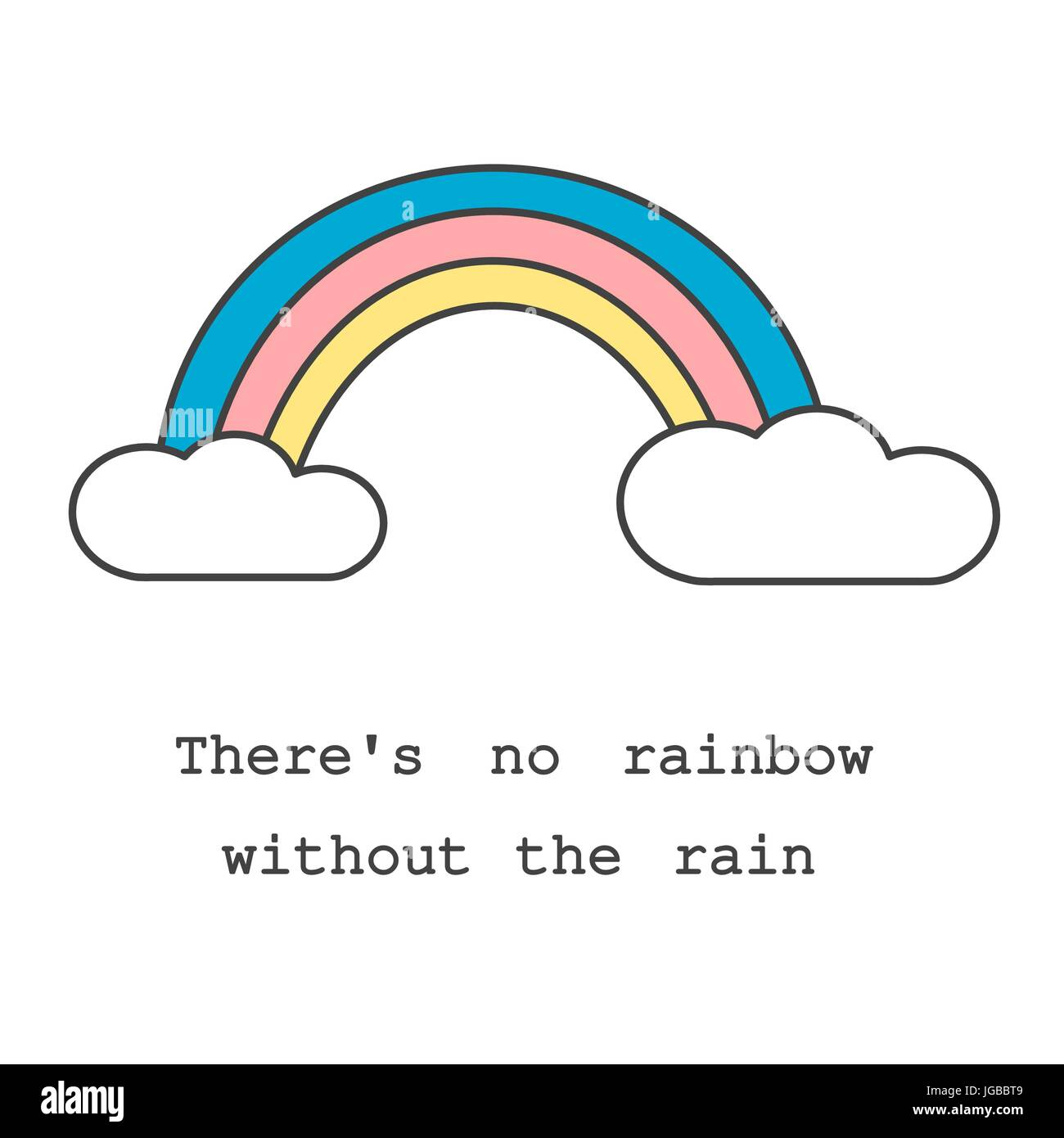 There S No Rainbow Without The Rain Motivational Slogan Card