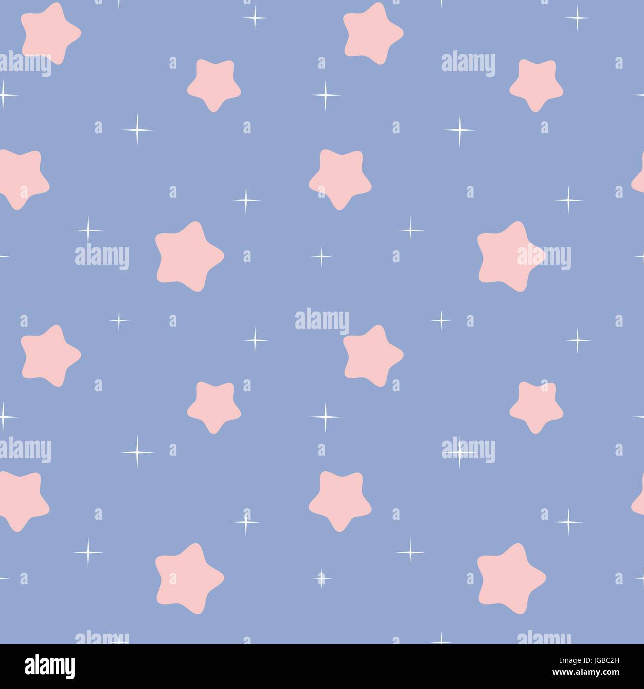 Cute Lovely White And Pink Rose Quartz Stars In Blue Serenity Sky