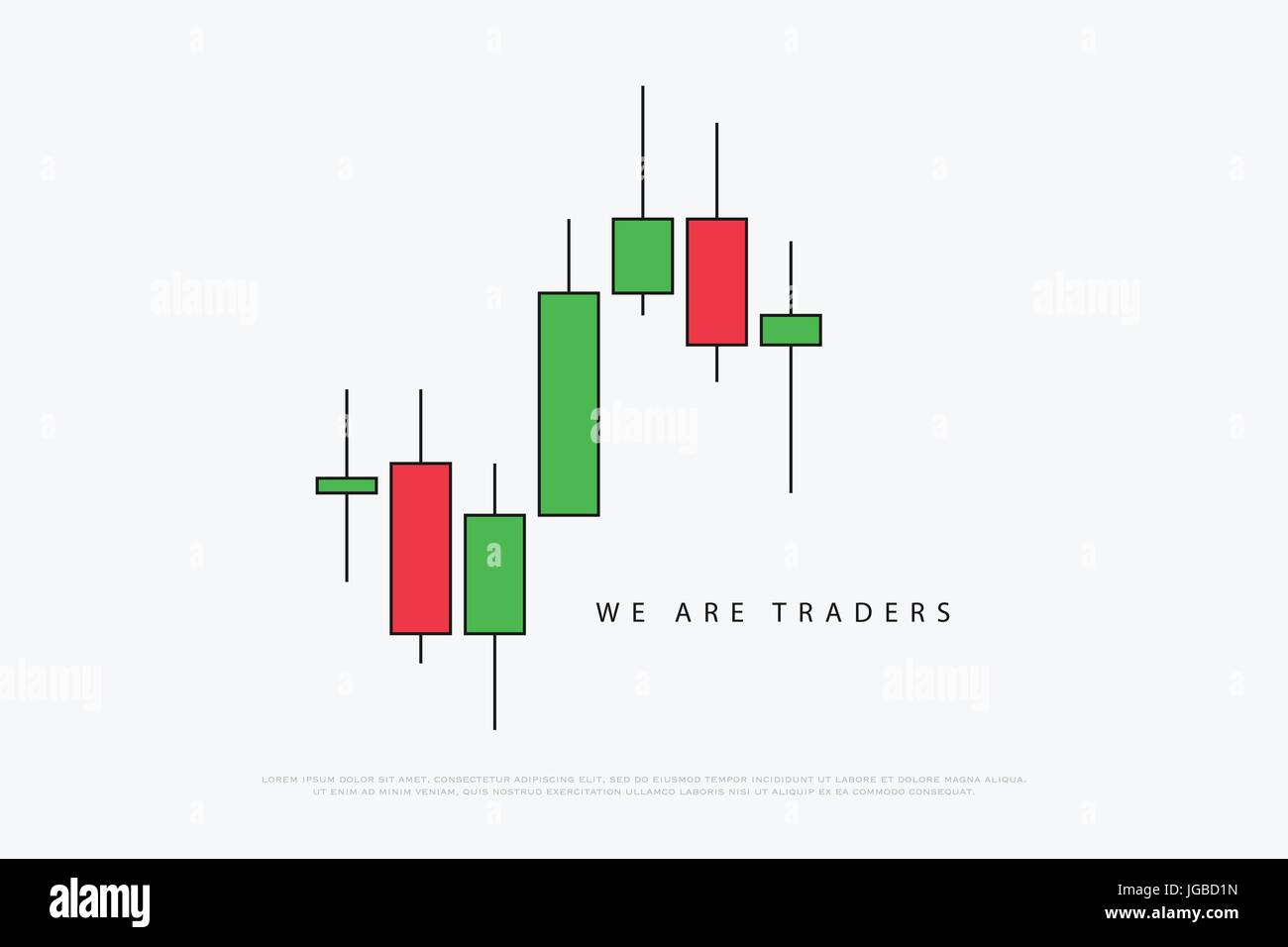 stock chart logotype with japanese candles pattern. vector currencies trading diagram. exchange market graph. forex - Stock Vector