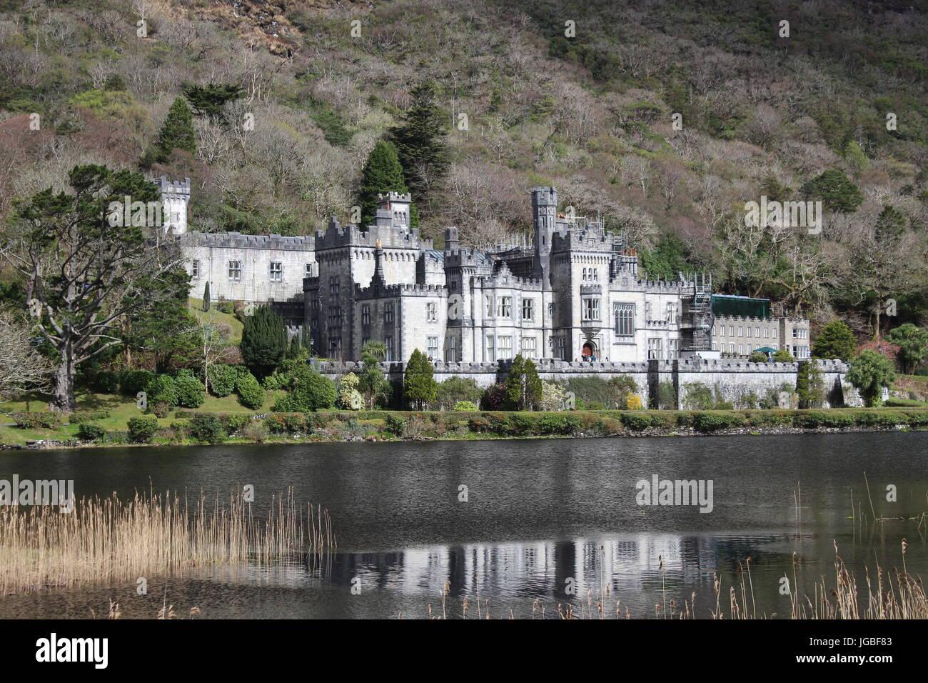 Kylemore Abbey, Connemara region, Ireland, Europe Stock Photo