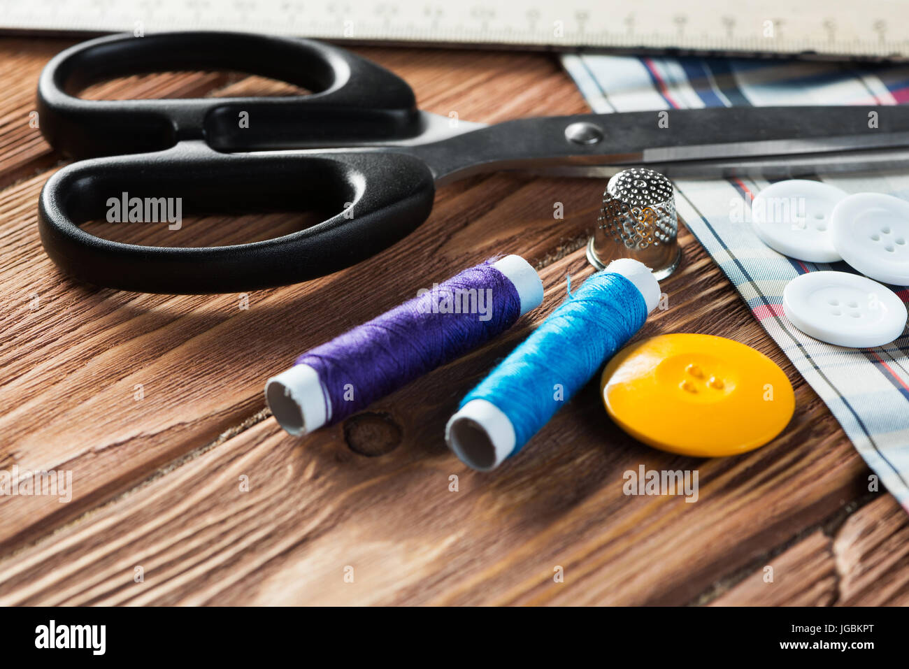 Items for sewing or DIY - Stock Image