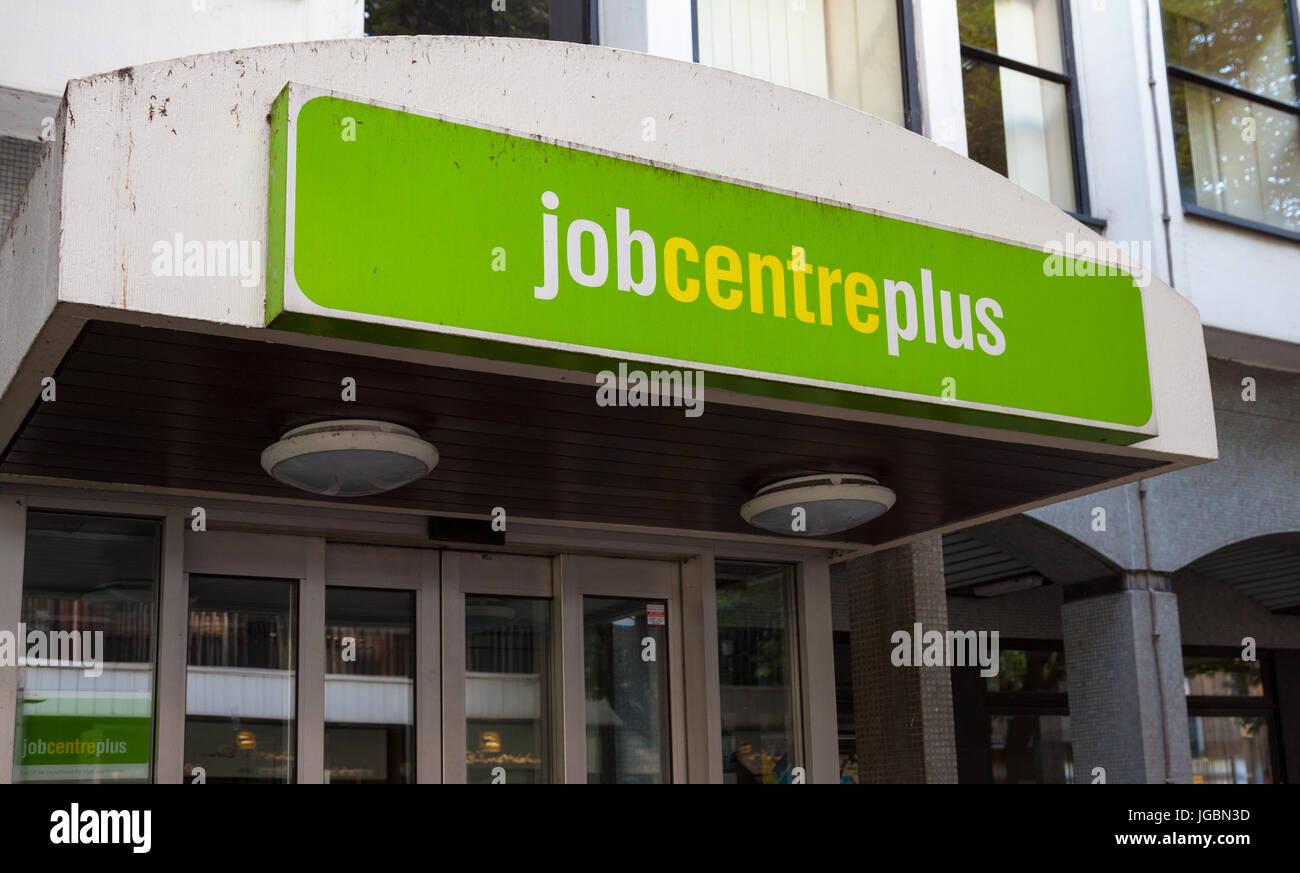 Job Centre Plus Entrance Sign, Kingston-Upon-Thames Stock Photo