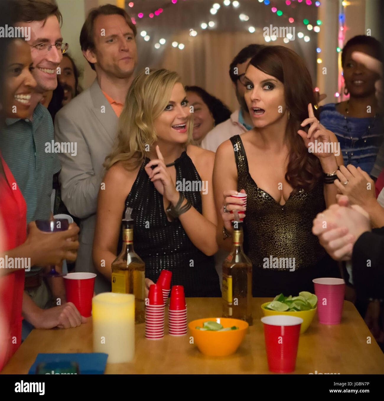 SISTERS 2015 Little Stranger film with Amy Poehler at left and Tina Fey - Stock Image