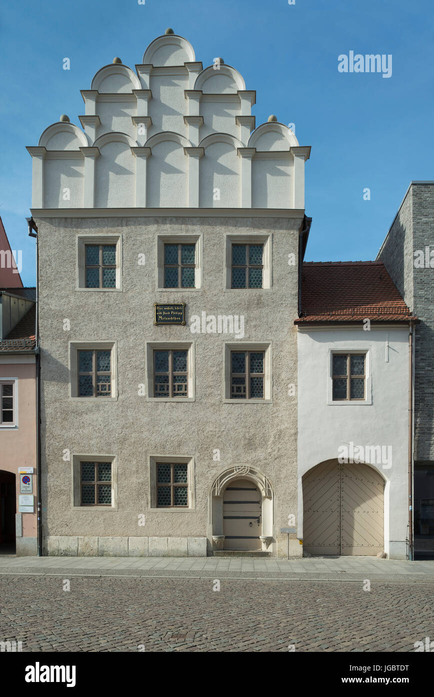 Melanchthonhaus from 1536, residence of Philipp Melanchthon, reformer and university lecturer, 1497-1560 - Stock Image