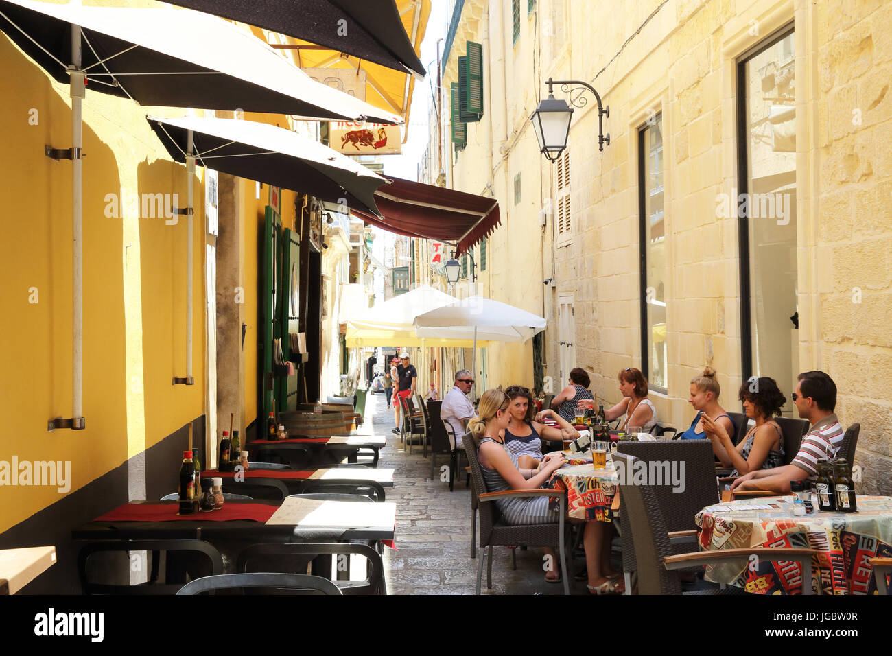 Loop Bar, one of the most famous bars and restaurants on the infamous Strait Street, in Valletta, Malta, once a - Stock Image