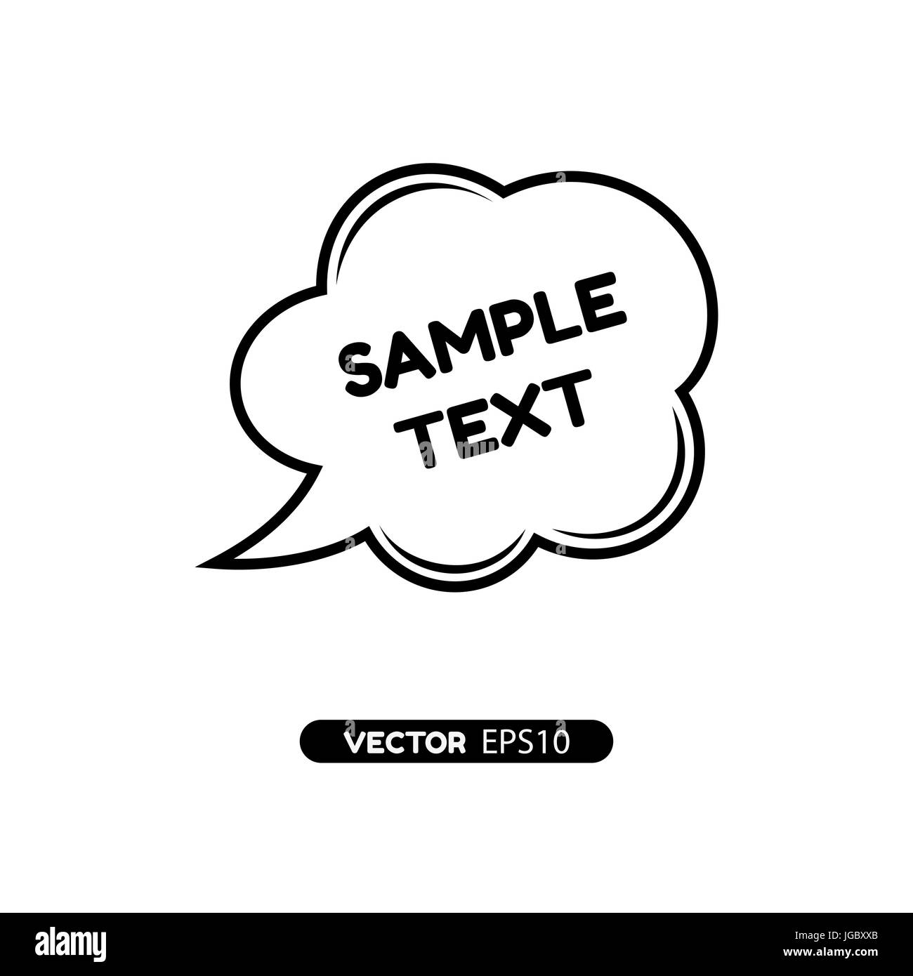 digital vector black quote frames bubble blank template with print
