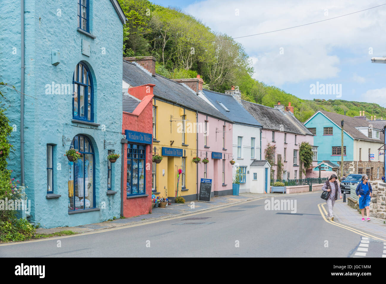 Solva Village in Pembrokeshire West Wales, also know as Lower Solva - Stock Image