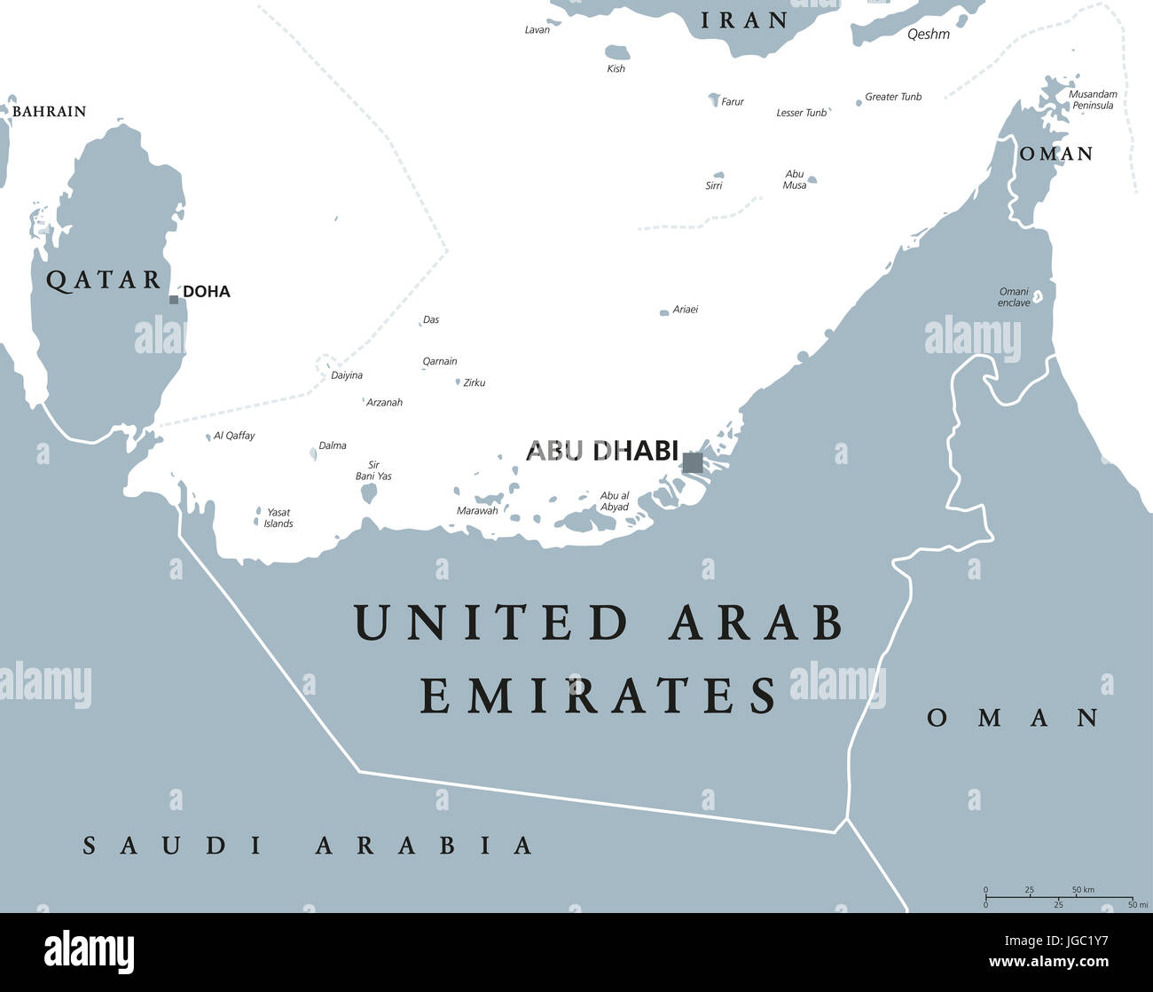 Picture of: Uae Map High Resolution Stock Photography And Images Alamy
