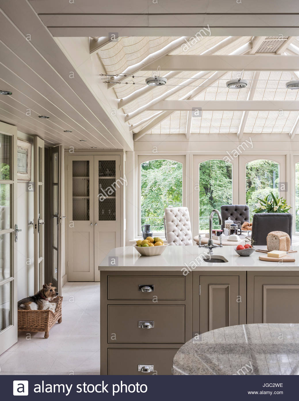 kitchen conservatory extension in surrey home - Kitchen Conservatory