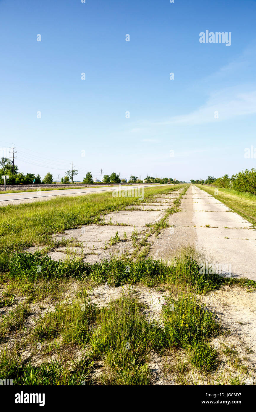 Historic Route 66, Illinois, USA - Stock Image