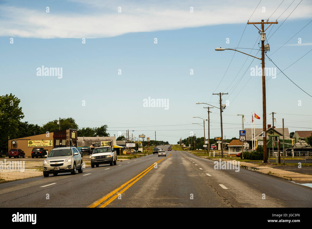 Route 66, Illinois, Kansas, USA - Stock Image