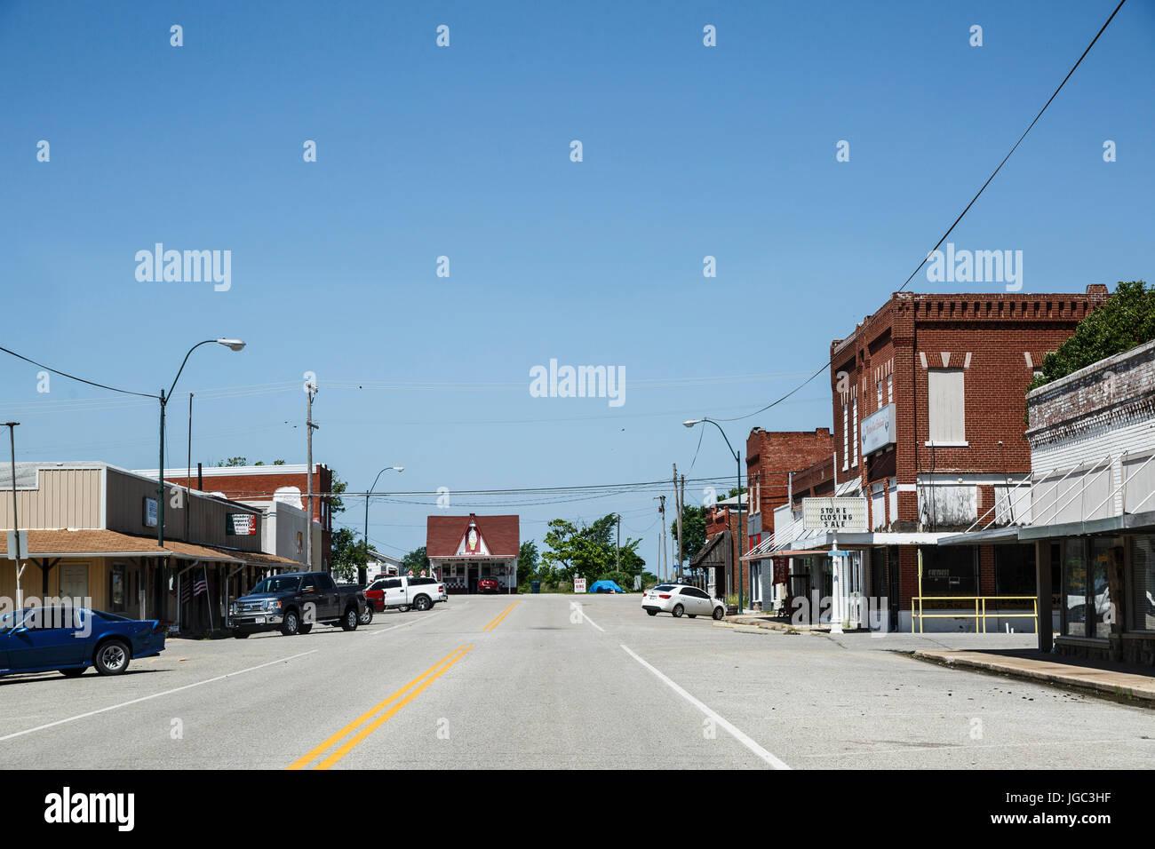 Historic Route 66, Oklahoma, USA - Stock Image